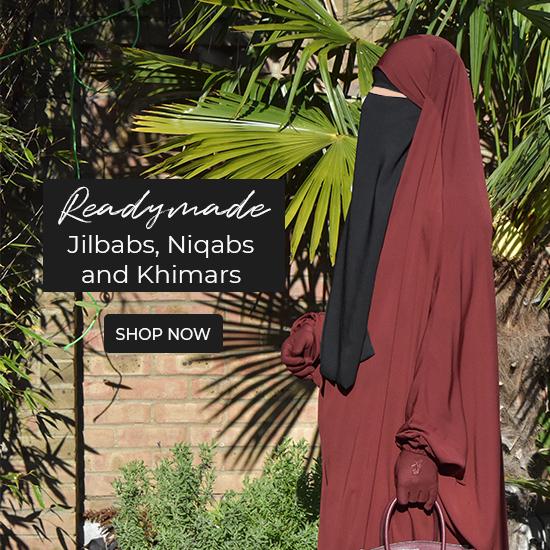 Readymade Jilbab, Niqab and Khimar Section.