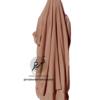 "Two Piece Jilbab ""Asiya"" Caramel - Tasnim Collections"