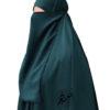 """Elastic Lithaam/Half Niqab """"Aaliyah"""" Deep Marine Blue – Tasnim Collections"""