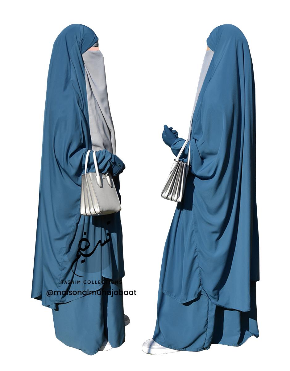 """Two Piece Jilbab """"Asiya"""" Denim - Tasnim Collections"""