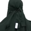 "One Piece Niqab ""Aaliyah"" Blackish Green - Tasnim Collections"