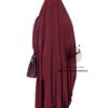 "Two Piece Jilbab ""Asiya"" Bordeaux - Tasnim Collections"