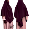 "Diamond Khimar ""Salma"" Grape Burgundy- Tasnim Collections"