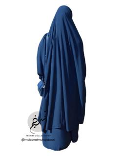 "Two Piece Jilbab ""Asiya"" Prussian Blue - Tasnim Collections"